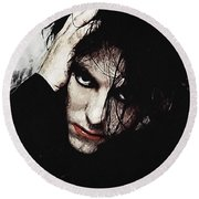 Robert Smith - The Cure  Round Beach Towel