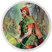 Robin Hood Round Beach Towel by James Edwin McConnell