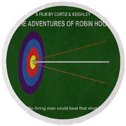 Robin Hood Movie Poster Round Beach Towel