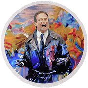 Robin Williams - What Dreams May Come Round Beach Towel