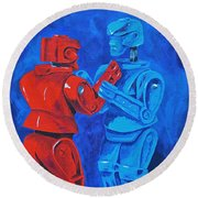 Robot Wars Round Beach Towel