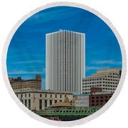Rochester Across The River Round Beach Towel