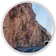 Rock And Road Round Beach Towel