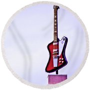 Rock And Roll Round Beach Towel