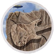 Rock And Roll Park 2 Round Beach Towel
