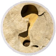 Rock And Sand Round Beach Towel