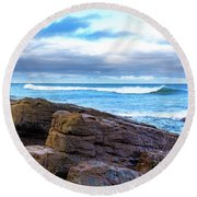 Rock And Wave Round Beach Towel