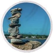 Rock Art A Memory Round Beach Towel