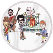 Rock Band Round Beach Towel