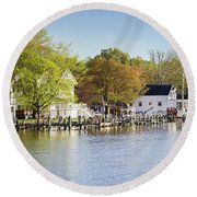 Rock Creek - Pano Round Beach Towel