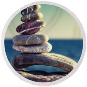 Rock Energy Round Beach Towel