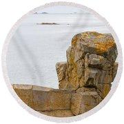 Rock Face Round Beach Towel