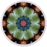 Rock Flower Round Beach Towel