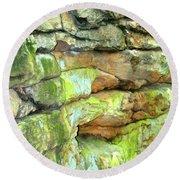 Rock Formation, Wv Round Beach Towel