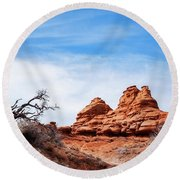 Rock Formations At Kodachrome Basin State Park, Usa Round Beach Towel