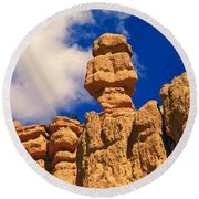 Rock Formations, Bryce National Park Round Beach Towel