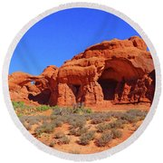 Rock Formations Round Beach Towel