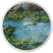 Rock Formations In The Sea, Bird Rock Round Beach Towel