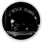 Rock Island Entrance Round Beach Towel
