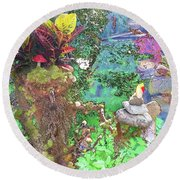 Rock Keeper Round Beach Towel
