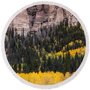 Rock Ledge Round Beach Towel