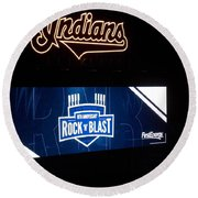 Rock N Blast 10th Anniversary Round Beach Towel
