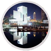 Rock N Roll Hall Of Fame Round Beach Towel