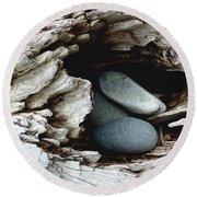 Rock Nest Round Beach Towel