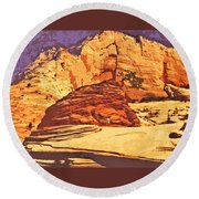 Rock Of Ages Round Beach Towel