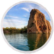 Rock Reflected Round Beach Towel