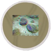 Rock Shapes 3 -use Red And Cyan 3d Glasses Round Beach Towel