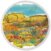 Rock Springs Round Beach Towel