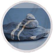 Rock Stack Round Beach Towel