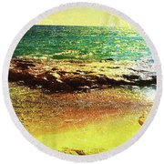 Rock The Rouge Round Beach Towel