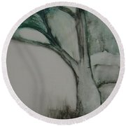 Rock Tree Round Beach Towel
