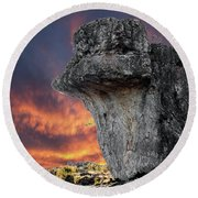 Rock Wallpaper Round Beach Towel