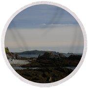 Rock Watch  Round Beach Towel