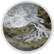Rock Water Round Beach Towel