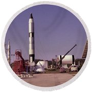 Rocket Garden Round Beach Towel