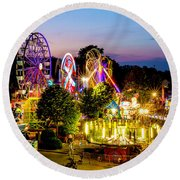 Rockford Carnival Round Beach Towel