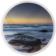 Rockin The Sunrise Seascape Round Beach Towel