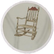 Rocking Chair Round Beach Towel