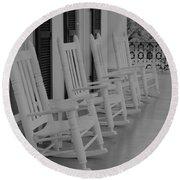 Rocking Chairs  Round Beach Towel