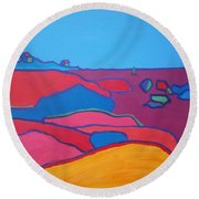 Rockport Dusk Round Beach Towel