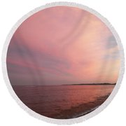 Rockport Sunset Round Beach Towel