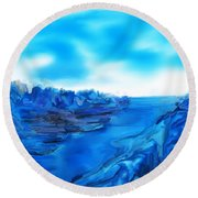 Rocks And Hard Places Round Beach Towel