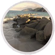 Rocks And Hills Round Beach Towel