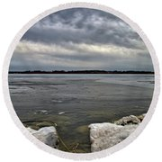 Rocks And Ice 2  Round Beach Towel