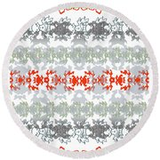 Rocks And Lace Round Beach Towel