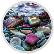 Rocks Round Beach Towel